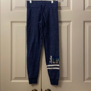 """Justice sequined """"cheer"""" sweats in heather blue"""